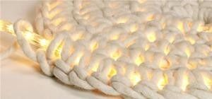 DIY Crochet LED Carpet-Light by lola  to go with the other crochet rug i want to do