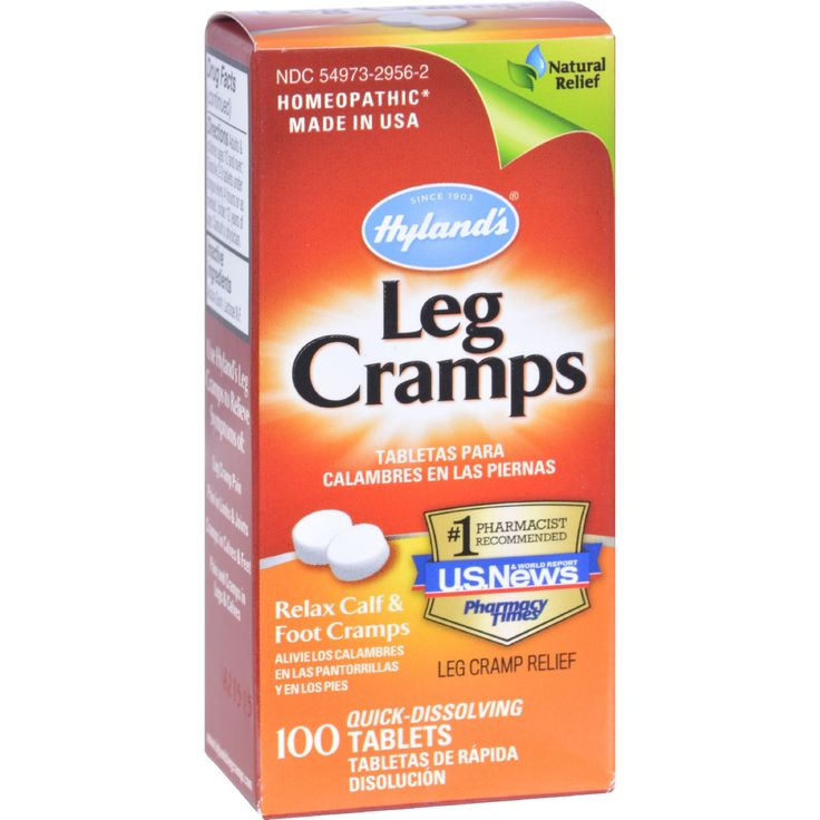 Hylands Leg Cramps - 100 Quick Disolving Tablets - Hylands Leg Cramps Description:    100% Natural  Stop the Pain!  Relax Calf and Foot Cramps Temporarily relieves the symptoms of cramps and pains in lower back and legs.   Use Hylands Leg Cramps if you have: Leg Cramp Pain Pain in limbs and joints Cramps in calves and feet Pain and cramps in legs and calves Joint stiffness   Use Hylands Restful Legs if you have:  Agitated legs especially when lying down Creepy crawly itch in legs Leg…