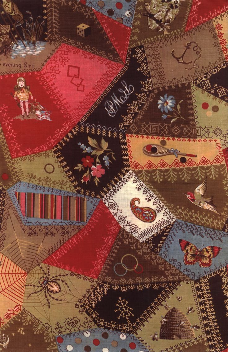 Crazy Quilt Pattern Fabric : 1000+ images about crazy quilt on Pinterest Hand embroidery, Stitches and Crazy quilt patterns