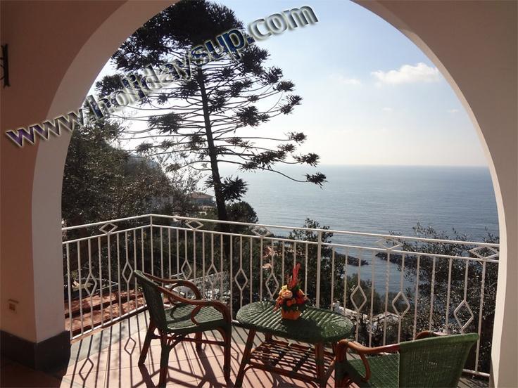 Terrace in villa with ocean view, Capri Island view - Massa Lubrense coast villas in sorrento coast