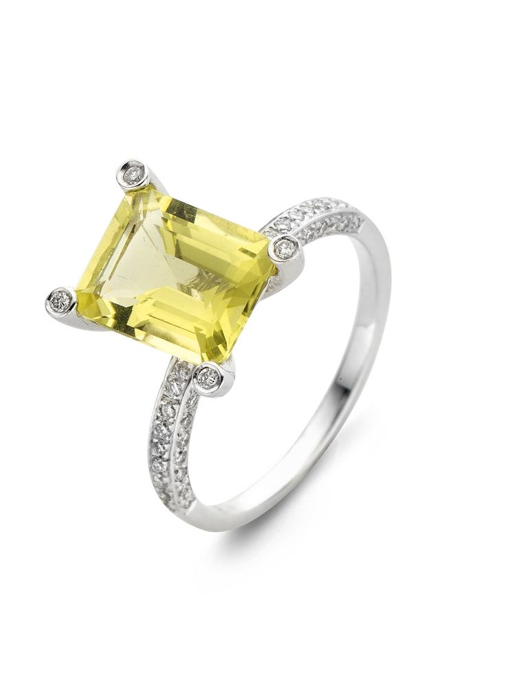 Gouden ring citrien - Colors ring - Diamond Point