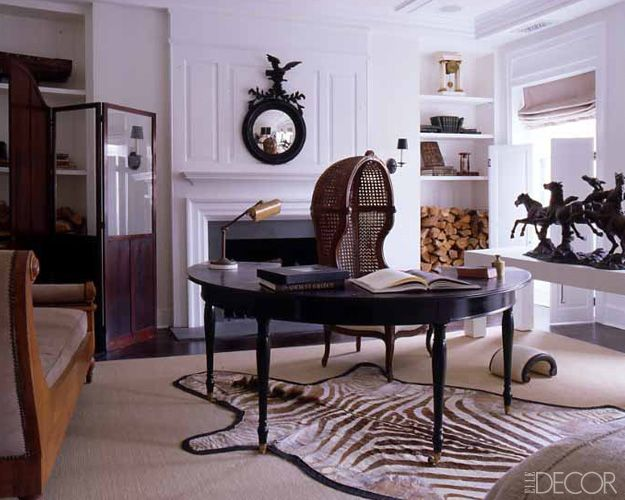 Luxurious office | Home office decor | Home office inspiration | Dark wood interior | Luxe interior