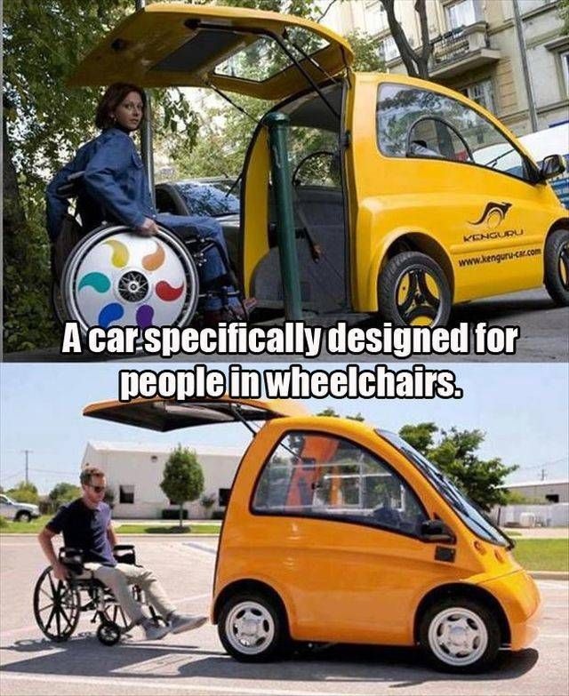 A car specifically designed for people in wheelchairs. 10 creative inventions that make sense | iLyke