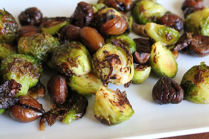 Roasted Brussels Sprouts with Chestnuts | nomnomnom | Pinterest