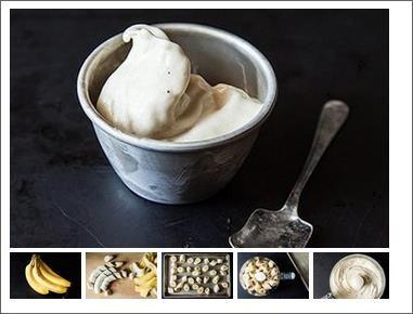 Очистите бананы от кожуры. Разрежьте их на мелкие кусочки. Сложите на тарелку и замораживайте 1-2 часа в морозильнике. Затем просто измельчите бананы в кухонном комбайне. Можете попробовать добавить другие фрукты, ореховое масло или шоколад.