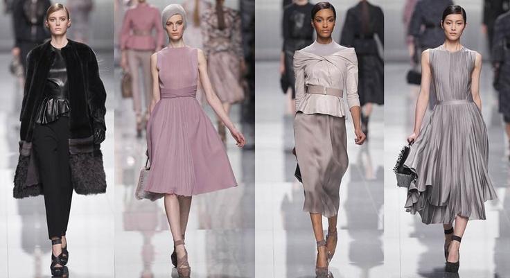Dior: Cinturas marcadas, tejidos muy ricos en texturas, y gazas vaporosas para una mujer glamurosa y sofisticada