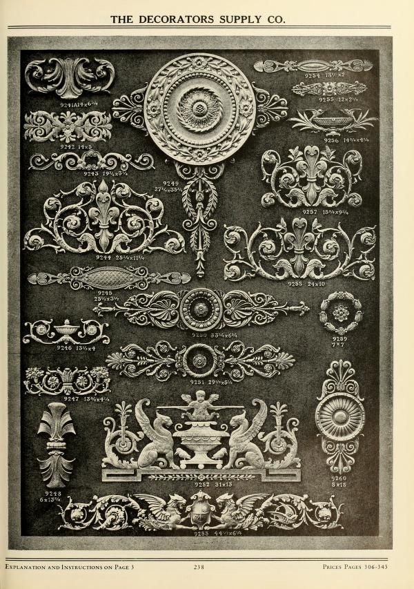 Illustrated catalogue of period ornaments cast ...