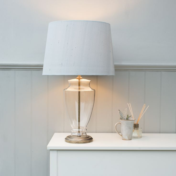 The Amersham #Table #Lamp is the newest addition to our range. The stunning urn shaped #glass base will add #character to any room.