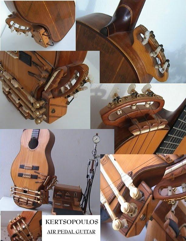 """Kertsopoulos pneumatic pedal guitar"""