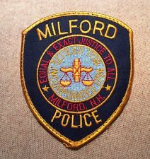 Milford New Hampshire Police Patch