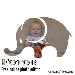 GrandmaIdeas.com: You can edit pictures with Fotor, a free online photo editing program. You can also create fun photo collages.