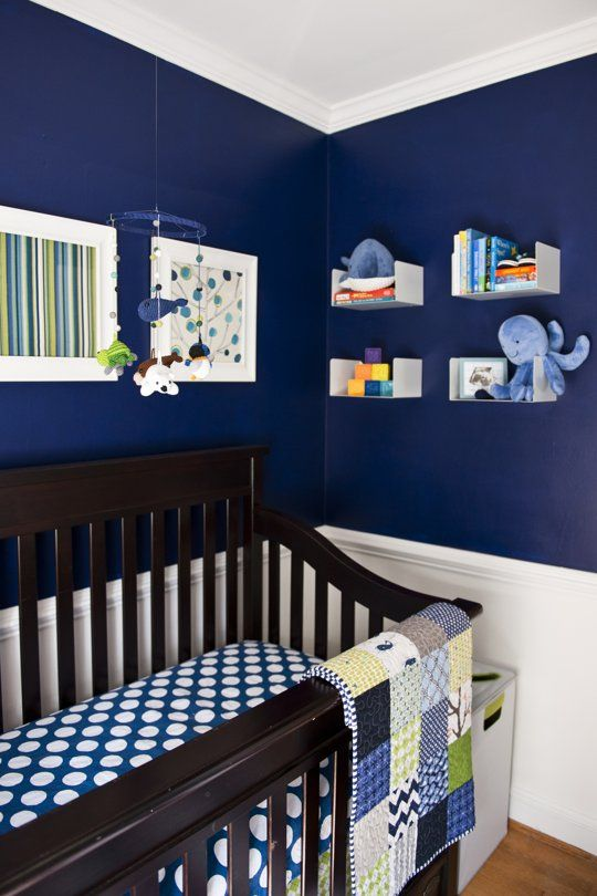 """Cathy's """"Navy & Green Nursery"""" Room room for color contest 