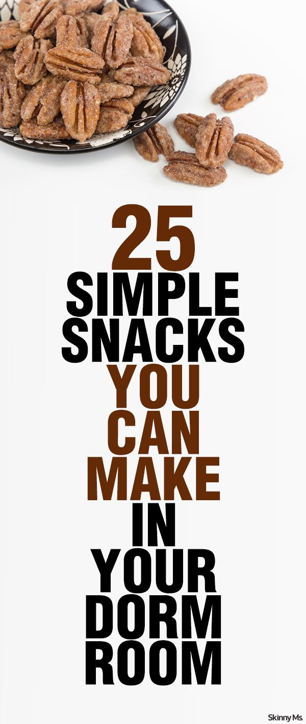 Dorm life can be difficult--and usually means eating a lot of cafeteria food. Avoid the freshman fifteen and stick to clean eating with these 25 Simple Snacks You Can Make in Your Dorm Room!