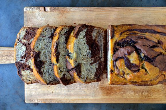Chocolate Swirl Banana Bread// Just a Taste-Everything, ok almost everything, is better with chocolate.