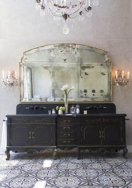 2016's Most Popular Pins-This Malibu Master Bathroom features Platner & Co. products