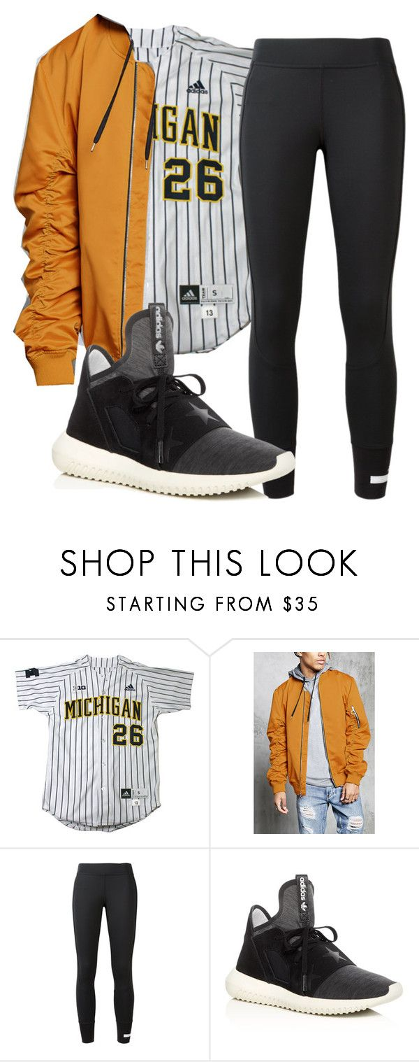 """""""Untitled #6"""" by kalienajb on Polyvore featuring 21 Men and adidas"""