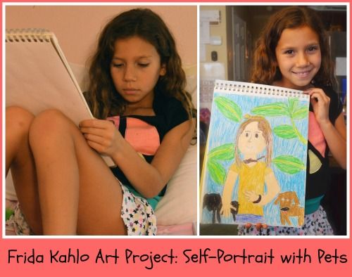 Frida Kahlo Art Project for Kids: resources to learn about this famous Mexican artist, plus an art project!: Frida Kahlo Art Project for Kids: resources to learn about this famous Mexican artist, plus an art project!