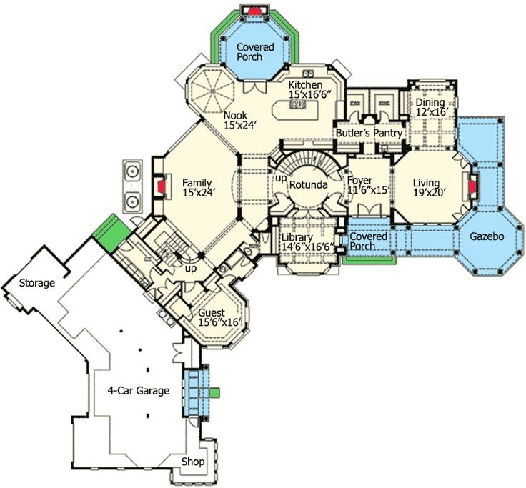 5566 best images about floor plans on pinterest for Luxury shingle style house plans