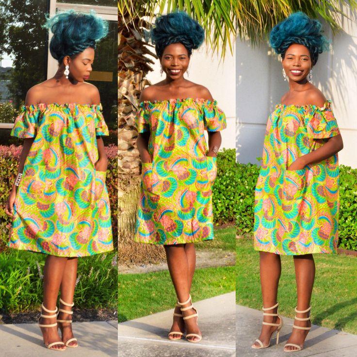 African clothing African fabric Ankara Dress by Shoplolaster