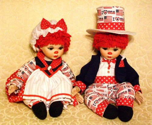 Marie Osmond Raggedy Ann and Andy dolls