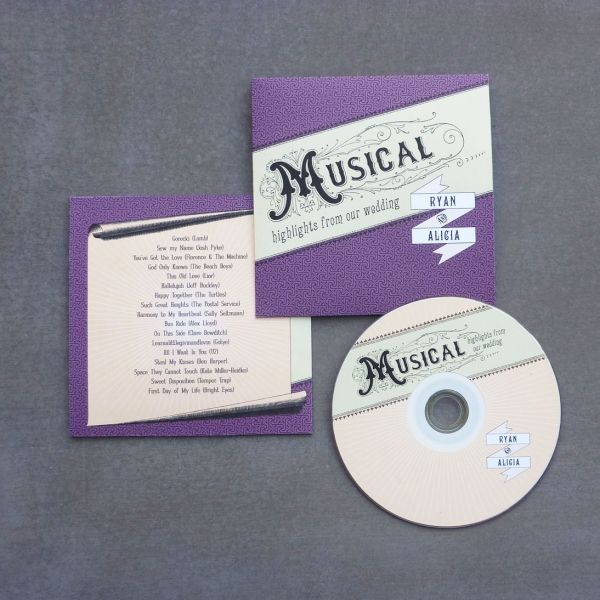 DIY Wedding CD Covers