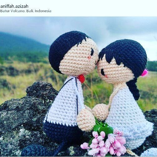 Repost photo @aniffah.azizah.  Just like human, some crochetdolls did the…