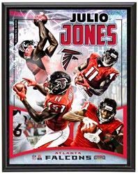 julio jones sublimated 10x13 player plaque details atlanta falcons httpwww