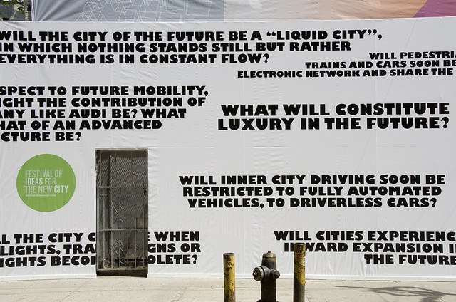 Urban Future: Audi Urban Future Initiative NYC, Photo by Dave Pinter, via Flickr