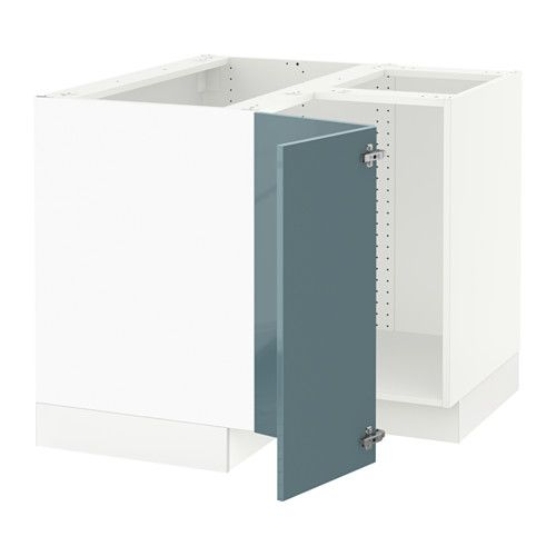 """SEKTION Corner base cabinet for sink IKEA You can choose to mount the door on the right or left side. Sturdy frame construction, ¾"""" thick."""