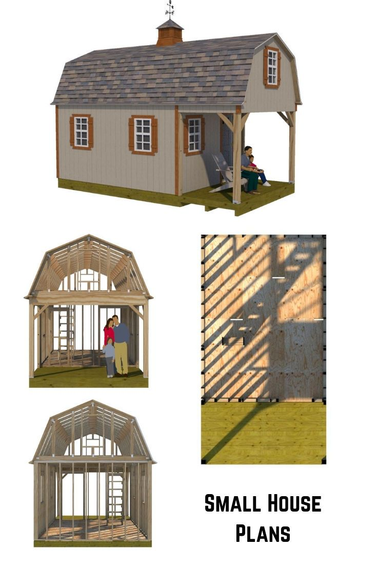 12x22 Barn Shed Plans Shed Small House Plans Barns Sheds