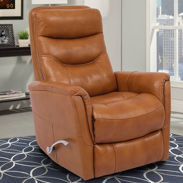Unruh Leather Manual Swivel Glider Recliner In 2020 Swivel Glider Recliner Glider Recliner Recliner