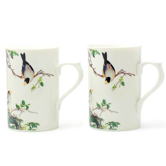 故宮博物館から!鳥のペアマグカップA - 鳥モチーフ雑貨・鳥グッズのセレクトショップ:鳥水木    #bird #torimizuki