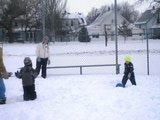 Kickball rules, even in the snow!