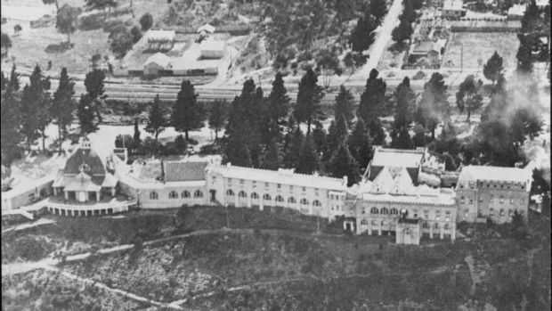 Flying high: An aerial shot of the Hydro Majestic Hotel in the 1940s.