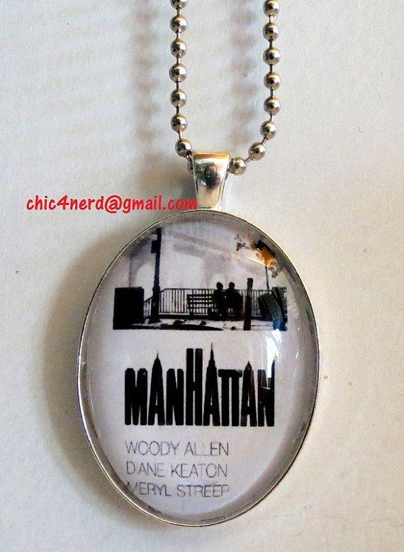 "Pendente ciondolo  ""Manhattan"" Woody Allen Movie Poster cammeo Cabochon"