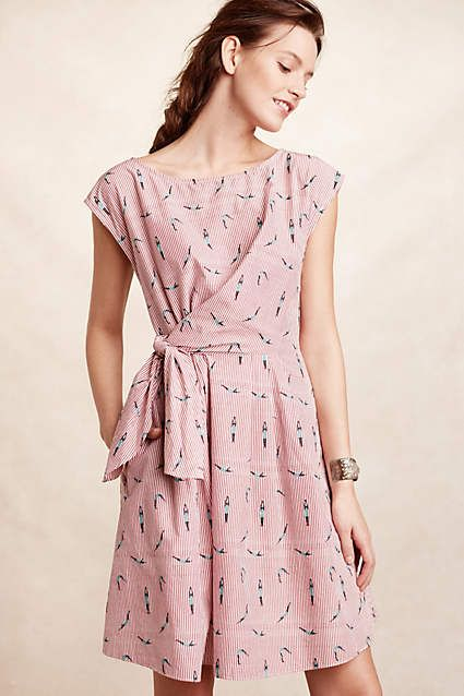 Pair this airy pastel dress with some flats or sandals and accessorize with your favorite pair of sunglasses!