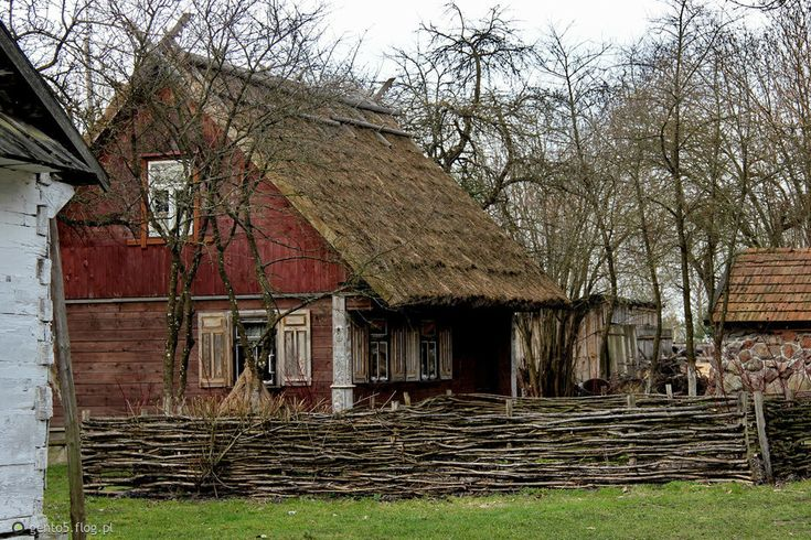 Region of Podlasie-about 100years old wd.structured country house-chatynka, Poland