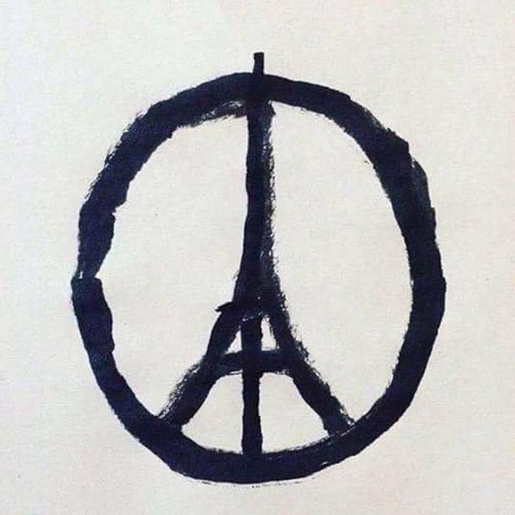 """""""Me deparei com esta imagem no Instagram como uma campanha de Paz. Mas esta imagem estilizada da Cruz de nero significa """"paz sem Cristo"""" . Pra  nós…"""""""