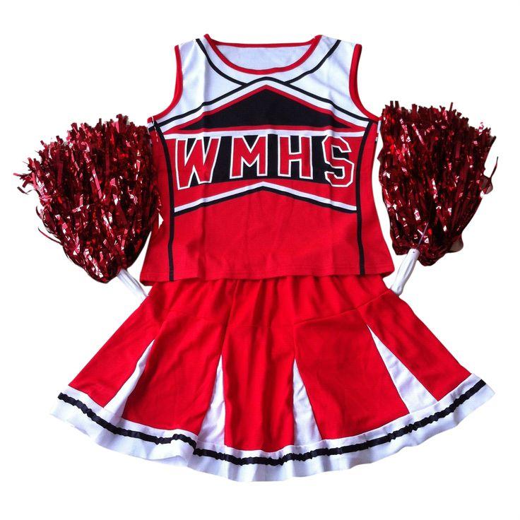 SZ-LGFM-Tank top Falda Pom cheerleader cheer líderes S (30-32) 2 unidades de juego nuevo traje rojo