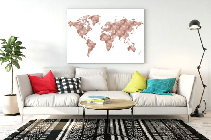 Rose gold world map Copper gold world map World map printable Large world map World map download World map print for nursery by Kompostela on Etsy