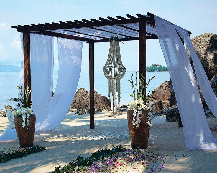 Wedding On The Beach Set Up Koh Samui Thailand