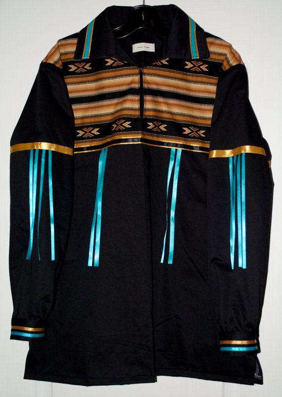 Large Native Style Ribbon Shirt by FeralFawn on Etsy
