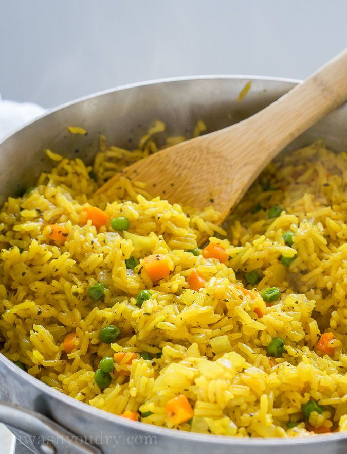 Easy Vegetable Rice Pilaf - I Wash... You Dry