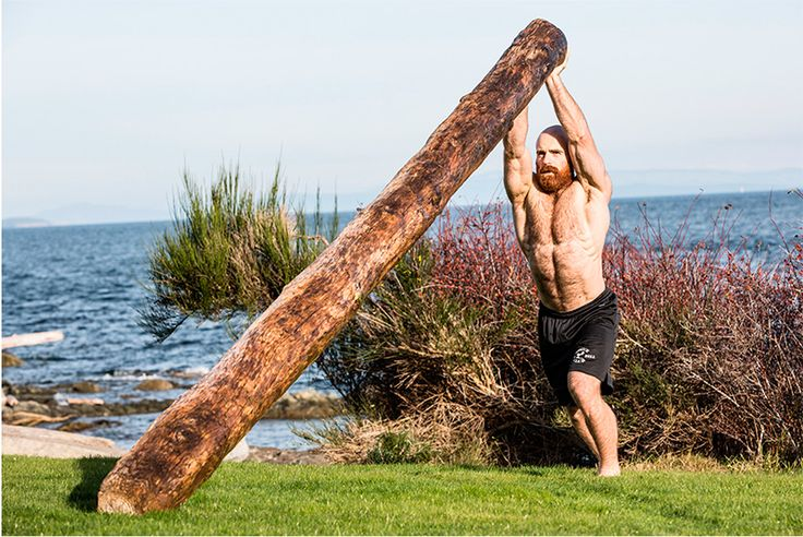 Lucas Parker trains with trees