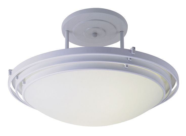 1 Light 3 Step Semi Flush Mount
