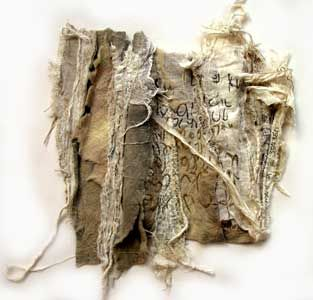 Text and textiles combination by Lisa Porch