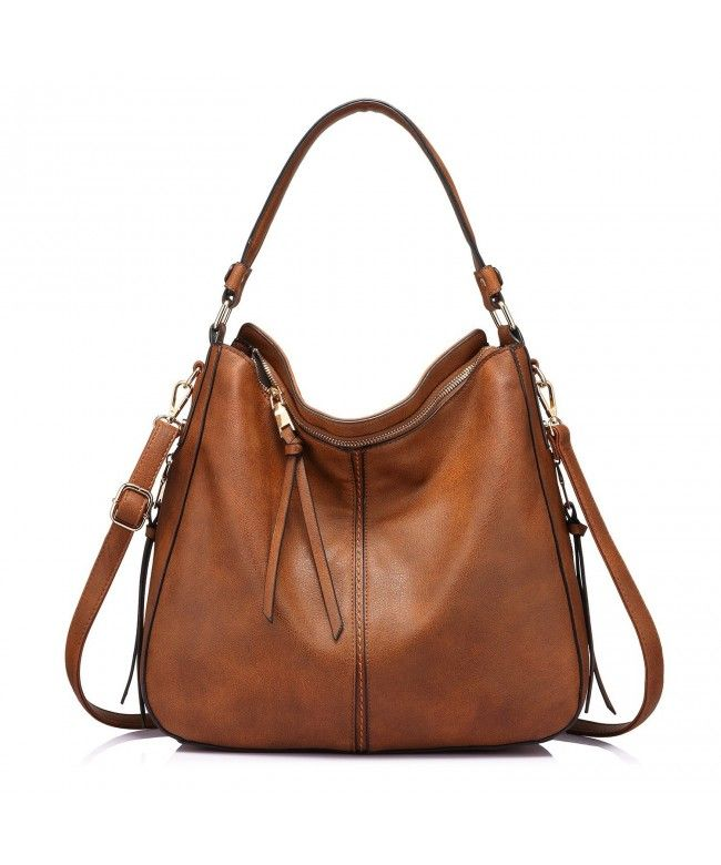 71aafadb39e2 Handbags for Women Large Designer Ladies Hobo bag Bucket Purse Faux Leather  - Light Brown -