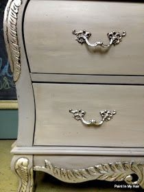 I think this is what I'll do with the French provincial dresser I bought to turn into a double vanity