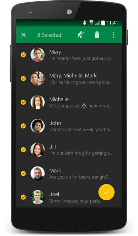 Textra is the first messaging app that features the new Android L Material Design look you've heard so much about. It's delightful!