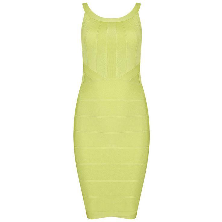Go's Cut-Out Green Bandage Dress